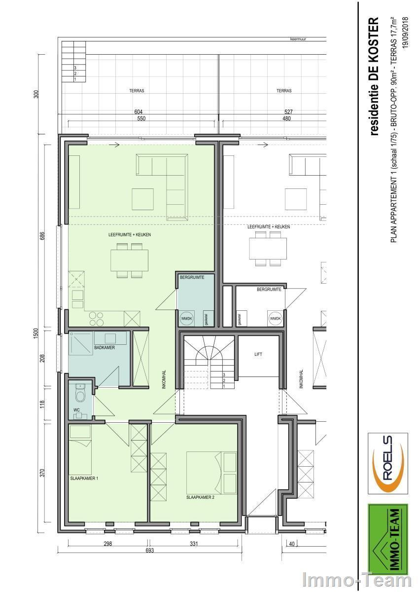 plan koster appartement